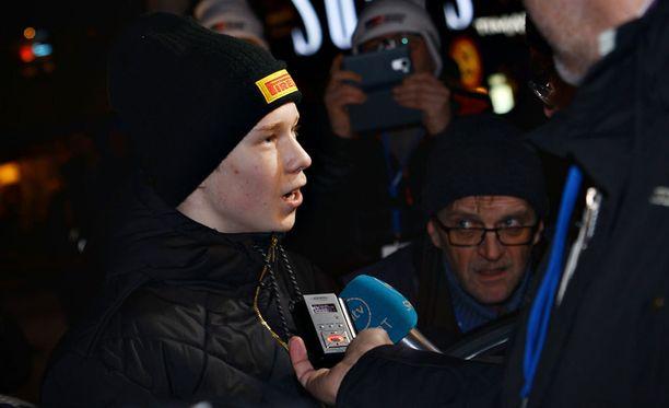 Kalle Rovanperä ihastutti helmikuussa uransa ensimmäisessä SM-rallissa, jonka hän myös voitti.