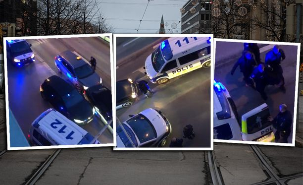 Raju poliisioperaatio tallentui silminnäkijän kameraan.