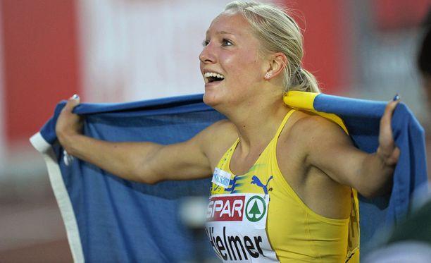 Moa Hjelmerin uran kirkkain saavutus on 400 metrin EM-kulta Helsingissä vuonna 2012.