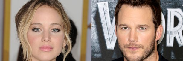 Jennifer Lawrence näyttelee toista herännyttä henkilöä avaruusaluksessa. Hurmuri Chris Pratt siirtyy dinosauruksista avaruusalukseen.