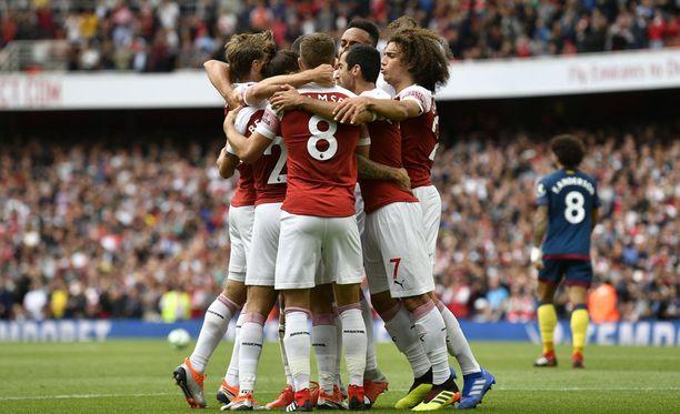 Arsenal juhli West Hamin kustannuksella.