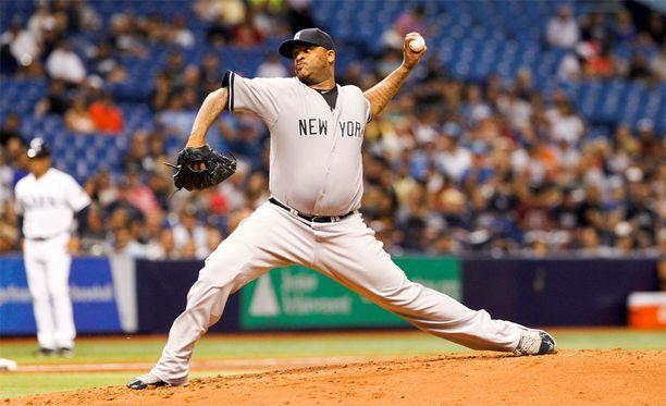 CC Sabathia kuuluu MLB:n tähtisyöttäjiin.