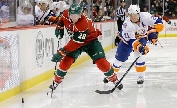 Minnesotan Ryan Suter joutui jättämään muutaman pelin väliin sairastettuaan sikotautia.
