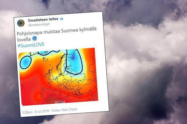 """""""Pohjoisen kautta Suomeen iskee kylmään"""", kertoo Ilmatieteen laitoksen meteorologi Ari Mustala."""