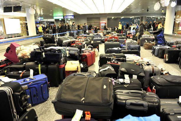 Matkatavarankäsittelijöiden lakko jäi vuorokauden mittaiseksi.