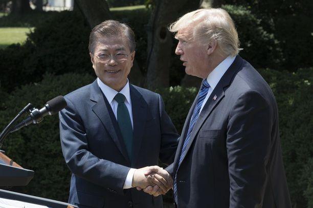 Presidentti Moon Jae-in vieraili Washingtonissa kesäkuun lopussa.