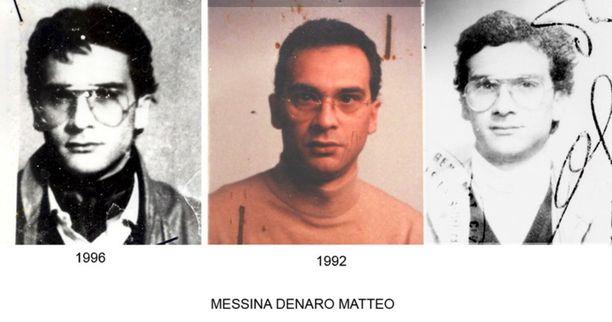 Kolme vanhaa kuvaa Matteo Messina Denarosta yli 20 vuoden takaa.