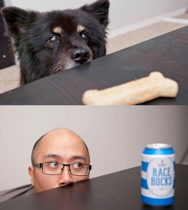 Jackson Chun koira on kuin omistajansa. Pieniä eroja havaittavissa.