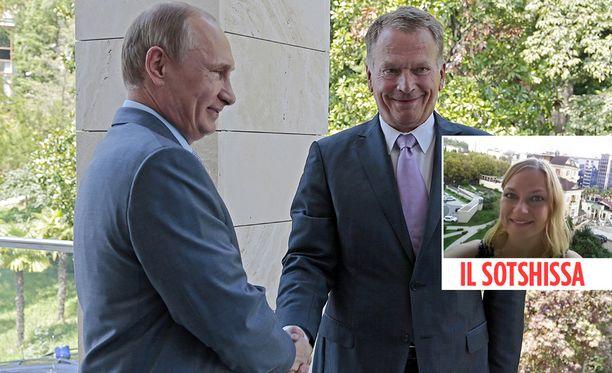 Elokuussa 2014 Vladimir Putin ja Sauli Niinistö tapasivat, vaikka Itä-Ukrainan sota ja Krimin miehitys olivat kiristäneet Euroopan ja Venäjän välit. Iltalehden toimittaja Anna Egutkina on paikalla Sotshissa, jossa presidentit tapaavat keskiviikkona.