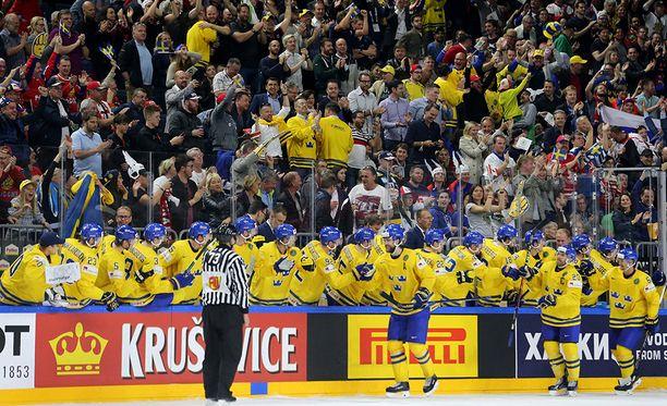 Ruotsi voitti MM-kultaa viime vuonna. Finaalissa kaatui Kanada.