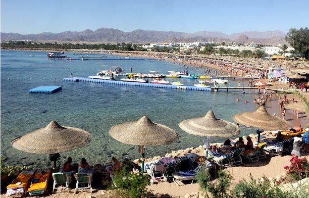 Muun muassa suosikkikohde Sharm el-Sheikhiin oli varattu lukuisia lomamatkoja.