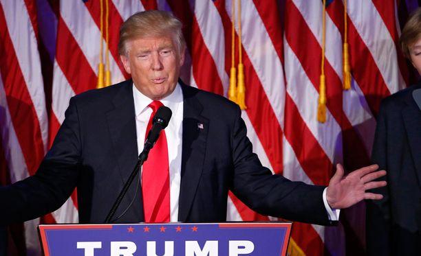 Republikaani Donald Trumpista tuli Yhdysvaltain 45. presidentti.