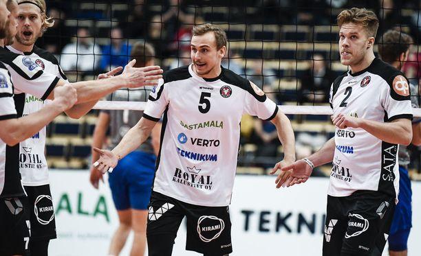 VaLePa on lentopallon miesten Suomen mestari kaudella 2017-2018. Arkistokuva.