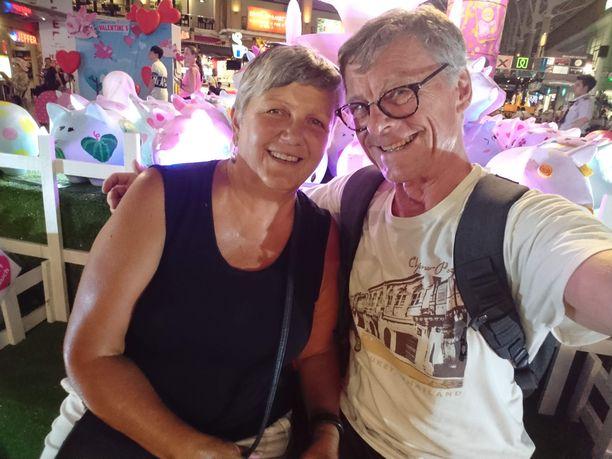 Kaija ja Markus jakavat samat mielenkiinnonkohteet, kuten liikunnan ja matkustelun. Tässä kuvassa he ovat matkalla Thaimaassa viime talvena.