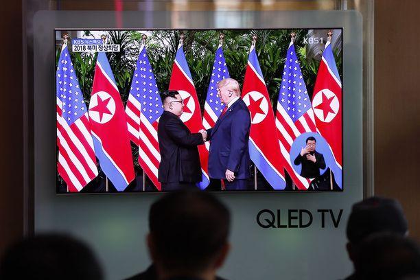 Pohjois-Korean johtajan Kim Jong-unin ja Donald Trumpin kohtaaminen on seurattu mediatapahtuma.