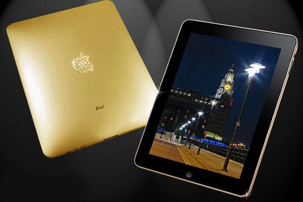 Varakkaampi kansanosa voi lukea e-kirjansa puhtaasta kullasta tehdyn iPadin näytöltä.