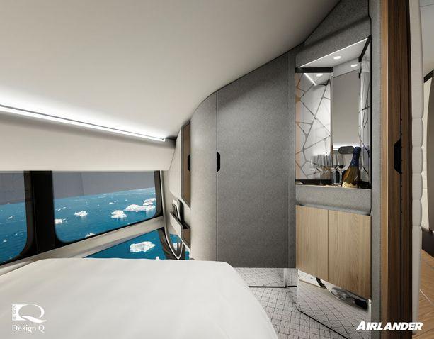 Airlanderin kyydissä matkustavat saavat nukkua yönsä omissa hyteissä.