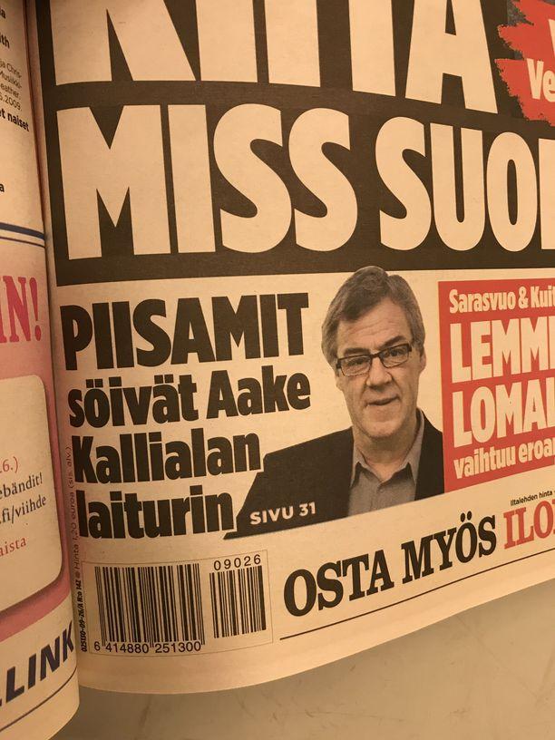 Piisamien kylvämä tuho ylitti uutiskynnyksen Iltalehdessä 24.6.2009.