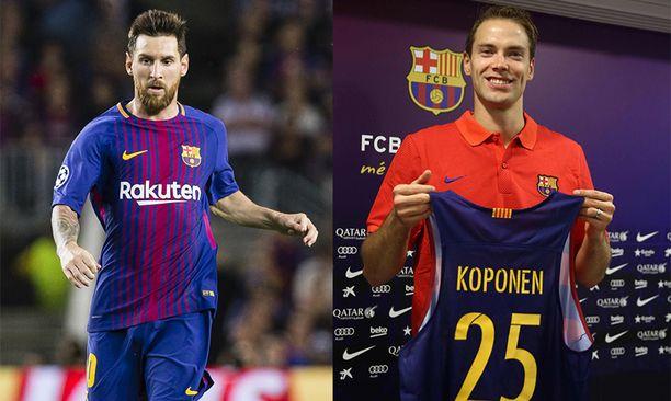 Lionel Messi myi autonsa Petteri Koposelle viime syksynä.