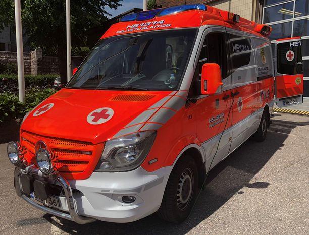 Ambulanssissa ei ollut potilaita tapahtumahetkellä. Kuvituskuva.