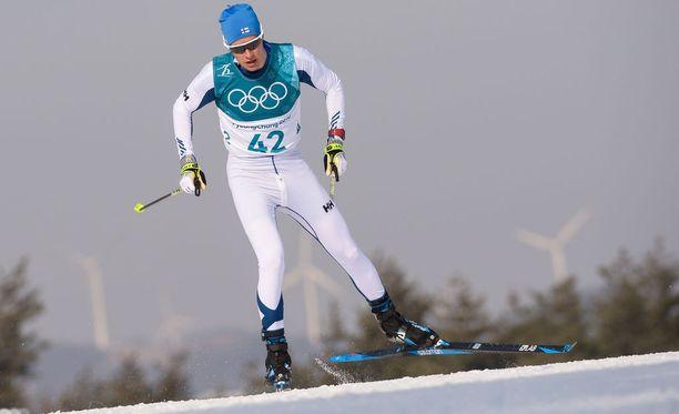 Matti Heikkinen pettyi perjantaina olympialaduilla.