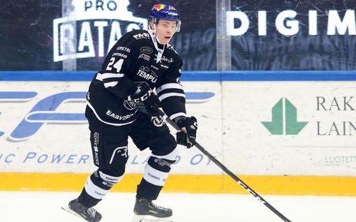 Superlupaus Kaapo Kakko aloitti TPS:n kirin - Ilkka Heikkinen osui kahdesti
