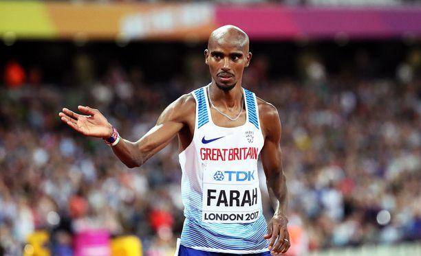 Mo Farah jätti yleisurheilun MM-kisoille hyvästit Lontoossa.