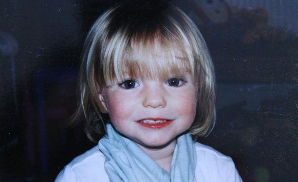 Madeleine McCann oli kadotessaan 3-vuotias.