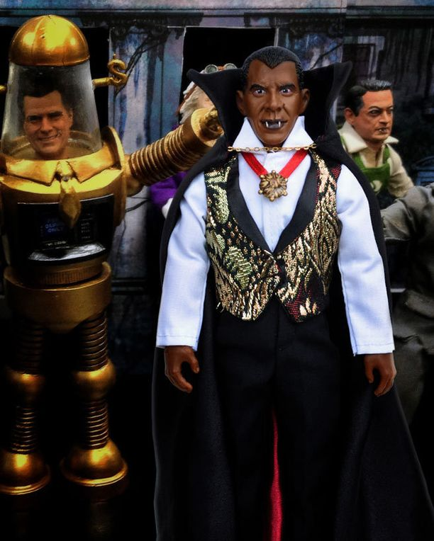 Istuva presidentti verenhimoisena ja vastaehdokas Mitt Romney iloisena robottina.