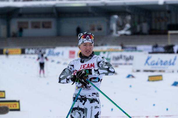 Komeassa maastokuosissa perjantaina hiihtänyt Anita Korva on vahvasti tyrkyllä MM-kisakoneeseen.