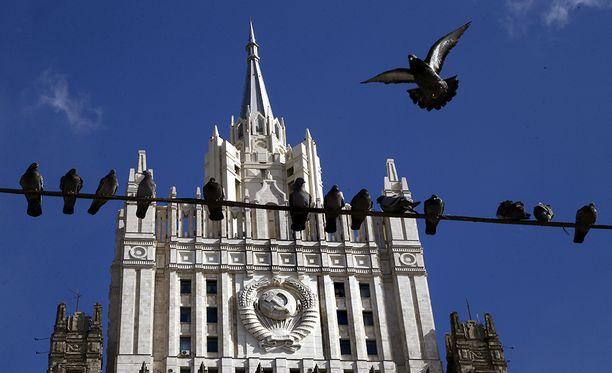 Moskovan ulkoministeriön rakennus Moskovassa.