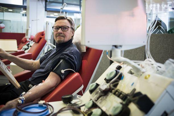 Erkki Rantala on verenluovutusten konkari.