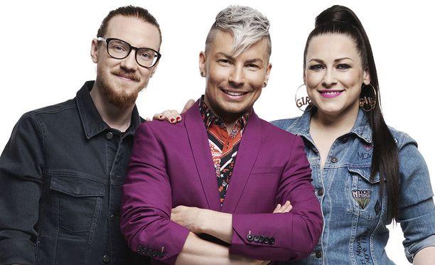Idols-tuomareina nähdään Jurek Reunamäki, Antti Tuisku ja Erin.