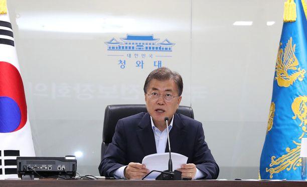 Etelä-Korean presidentti Moon Jae-in on kutsunut turvallisuusneuvoston koolle.