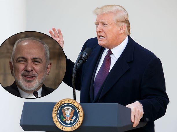 Iranin ulkoministeri Mohammad Javad Zarif pillastui Trumpin kritiikistä ja piikitteli tätä tämän taannoisista haravalausunnoista.