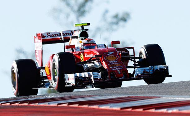 Kimi Räikkönen oli eilen aika-ajoissa viidenneksi nopein kuski.