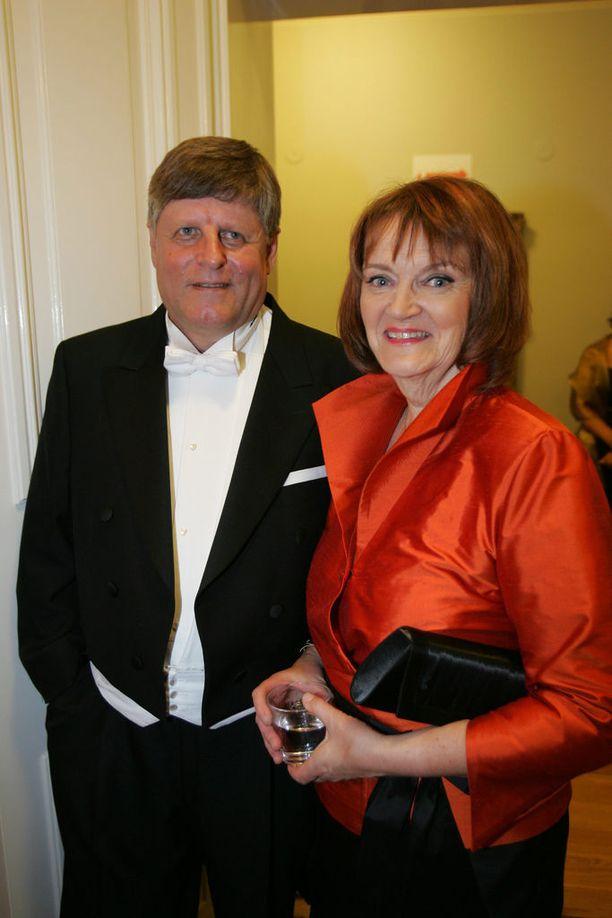 Merimaa vaimonsa Leenan kanssa Linnan juhlilla vain 1,5 viikkoa 60-vuotisjuhliensa jälkeen vuonna 2007.