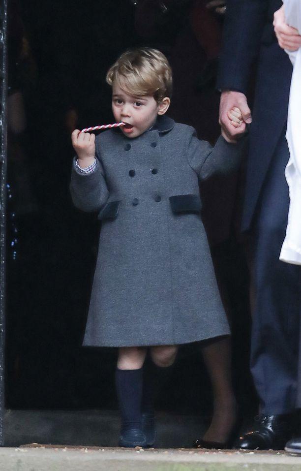 Prinssi George maisteli polkatikkuaan.