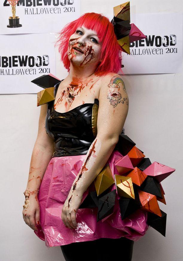 Ida oli pukeutunut Lady Gaga -zombieksi.