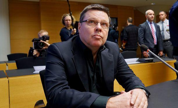 Jari Aarnio oli pääsyytetty tammikuussa 2015 alkaneessa Trevoc-oikeudenkäynnissä.
