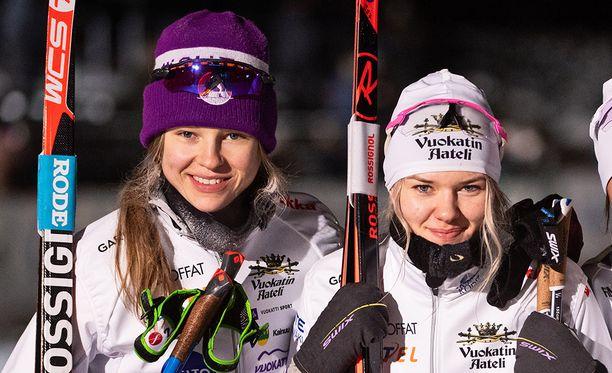 Eveliina Piippo (vas.) jäi aamun karsintaan, Vilma Nissisen aika ei aivan riittänyt välieräpaikkaan.