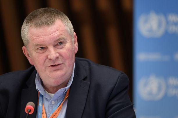 WHO:n hätäohjelman johtaja Mike Ryan puhui toimittajille perjantaina.