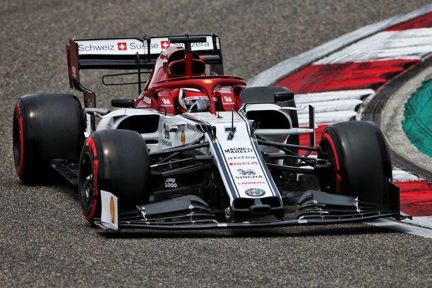 Kimi Räikkönen ajoi Kiinan GP:ssä yhdeksänneksi.