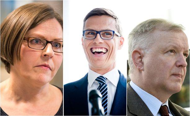 Heidi Hautala (vihr), Alexander Stubb (kok) ja Olli Rehn (kesk) nousivat esiin Helsingin Sanomien teettämässä gallupissa.