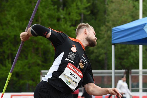 Teo Takala heitti lauantaina Vantaalla neljänneksi ennätyksellään 77,97.
