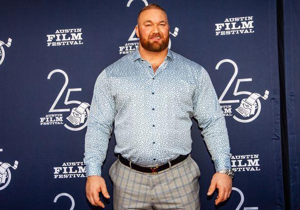 Hafthor Björnsson painoi ennen yli 200 kiloa. Kuva vuodelta 2018.