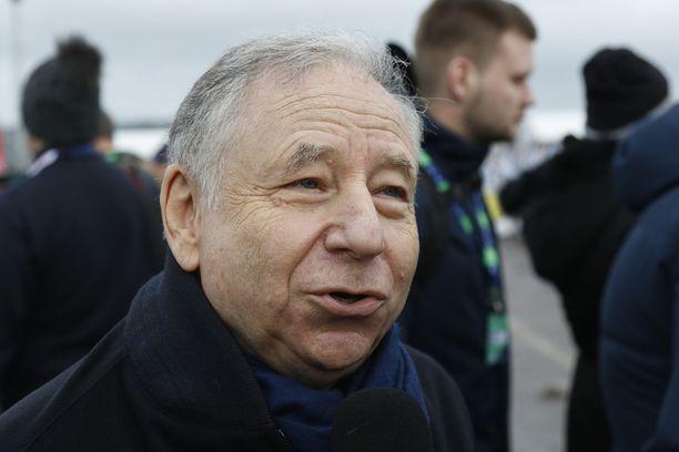 Jean Todt on kansainvälisen autoliiton FIA:n puheenjohtaja.