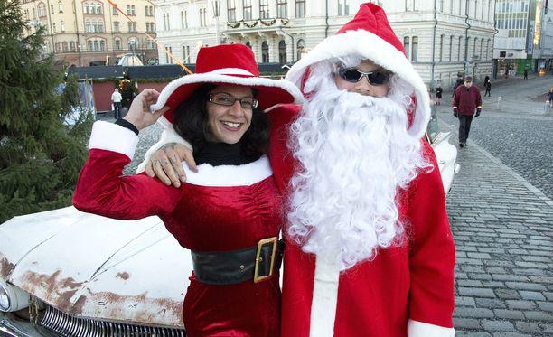 Joulupukki asuu Suomessa, tämä yksilö Tampereella.