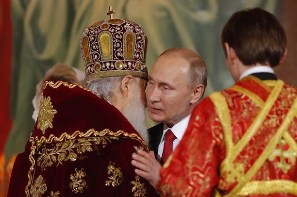 Putinin aikana ortodoksinen kirkko on vahvistanut asemaansa Venäjällä.