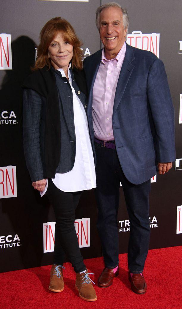 Stacey-vaimo ja Henry Winkler punaisella matolla syyskuussa.